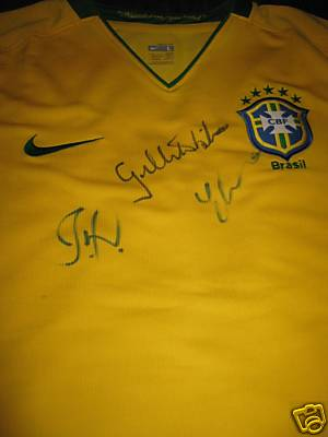 Gilberto Silva donated eBay Brazil shirt for Task Brasil